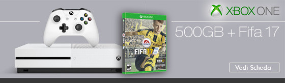 Console Microsoft Xbox One S 500GB incluso Fifa 17 [ZQ9-00055]