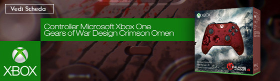 Controller Microsoft Xbox One Gears of War Design Crimson Omen [WL3-00003]