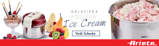 Gelatiera Ariete Frozen Ice Cream Maker 630 10W