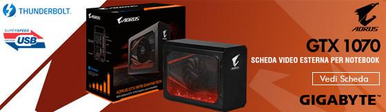 Scheda Video nVidia Gigabyte GTX1070 8GB Aorus Gaming Box esterna
