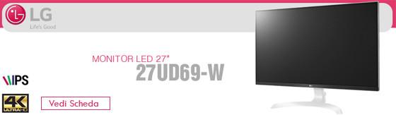 """Monitor Led 27"""" Lg 27UD69-W IPS 4k Ultra HD"""