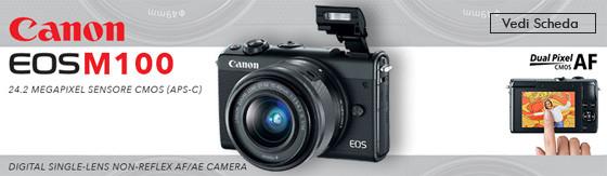 Fotocamera Canon EOS M100 Body nero