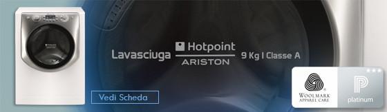 Lavasciuga Hotpoint AQD970F 697 EU 9kg+7Kg 1600g Classe A